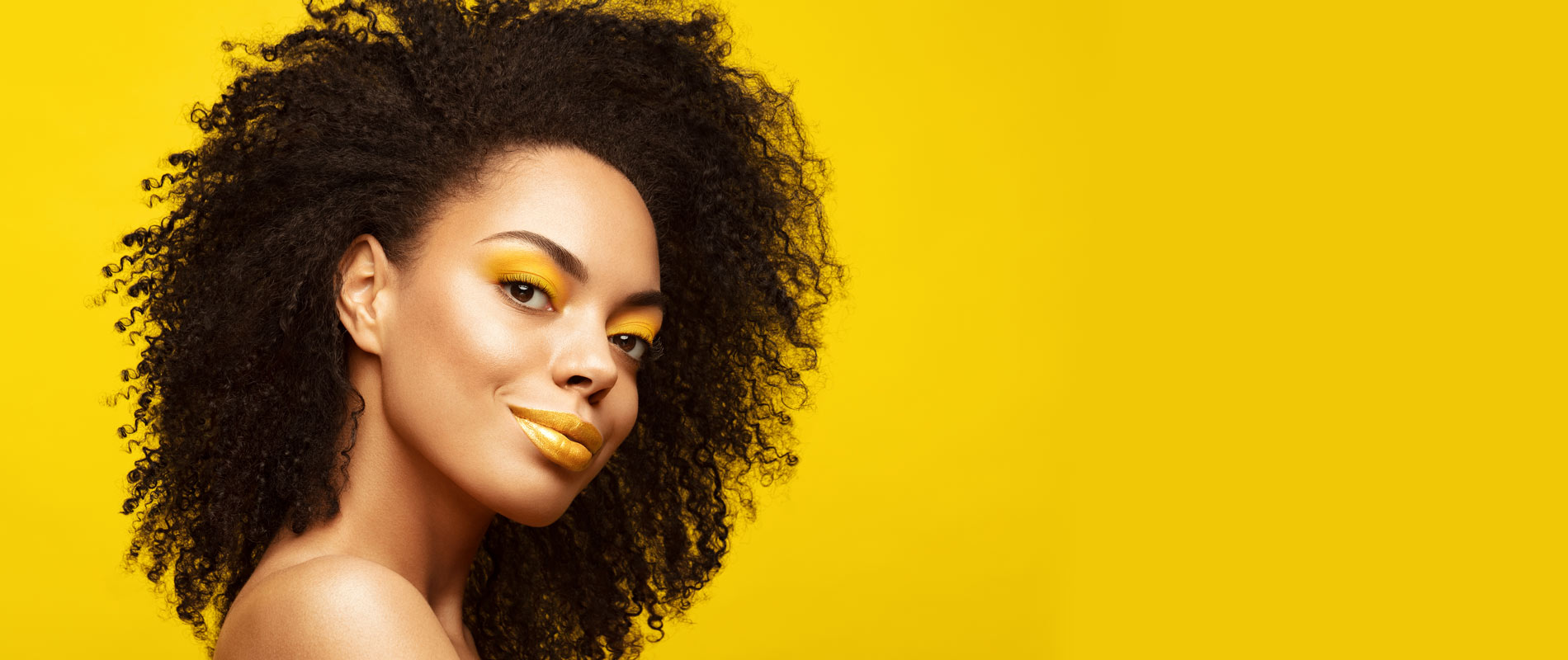 woman on a yellow background